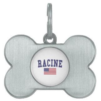 Racine US Flag Pet ID Tag