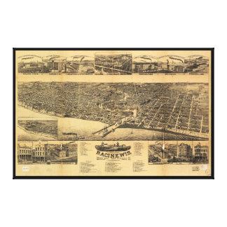 Racine Wisconsin county seat of Racine County 1883 Canvas Print
