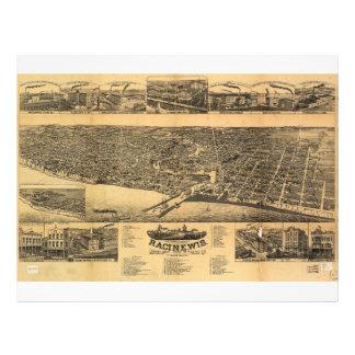 Racine Wisconsin county seat of Racine County 1883 Letterhead