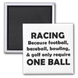 Racing 2 Inch Square Magnet