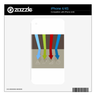 Racing Arrows Chart Skins For The iPhone 4