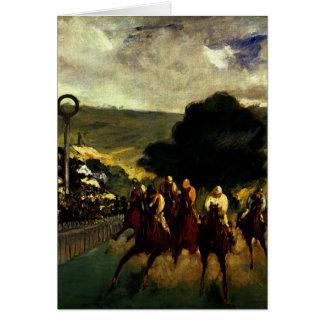 Racing at Longchamp Card