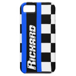 Racing auto sports chequered flag name iphone case iPhone 5 cover