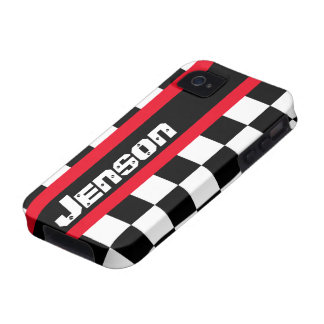 Racing auto sports chequered flag name iphone case vibe iPhone 4 cover