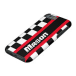 Racing auto sports chequered flag name iPhone case Tough iPhone 6 Case