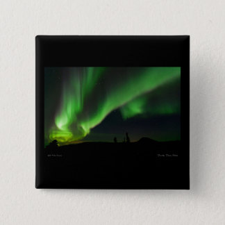 Racing Bands of Aurora over Donnelly Dome Pinback Button