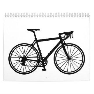 Racing bicycle wall calendar