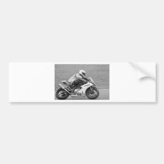 Racing bike number 60 car bumper sticker