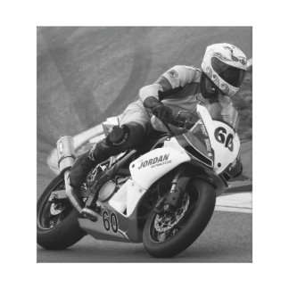 Racing bike number 60 canvas print