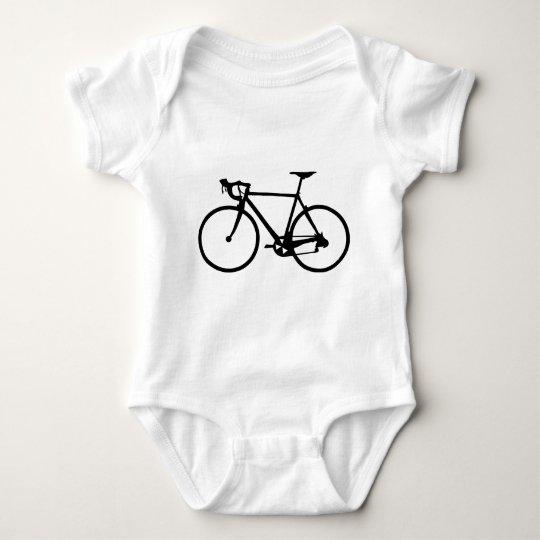 racing bike - racer bicycle baby bodysuit