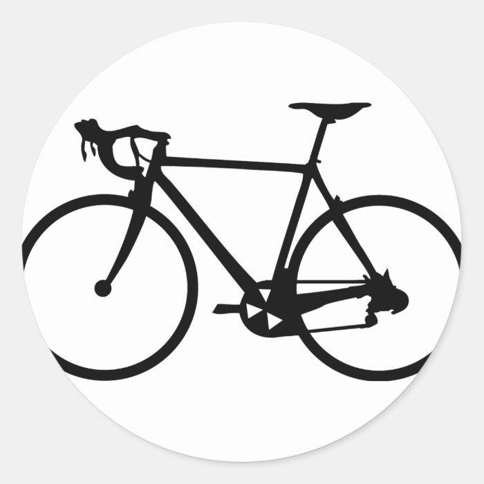 racing bike - racer bicycle classic round sticker