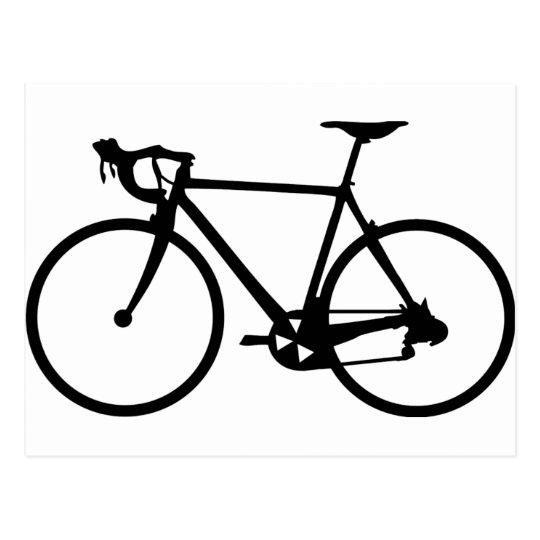 racing bike - racer bicycle postcard