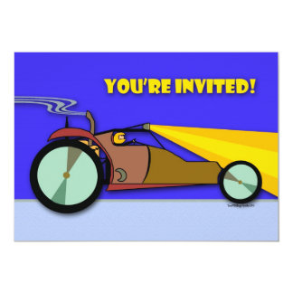 Racing Birthday Party Invitation, Dune Buggy Card
