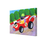 Racing Black Labrador Painting Gallery Wrap Canvas