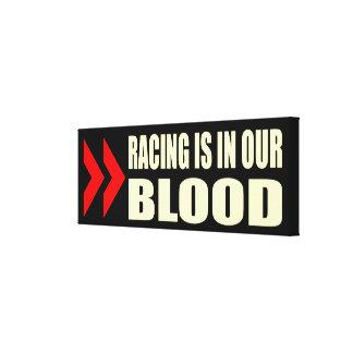 Racing Blood Canvas Print