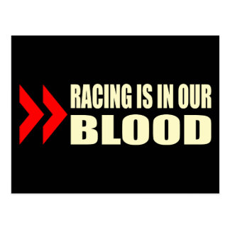 Racing Blood Postcard