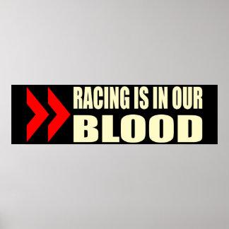 Racing Blood Poster