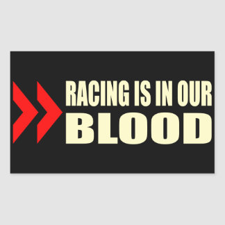 Racing Blood Rectangular Sticker