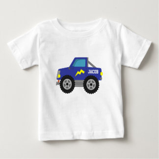 Racing Blue Monster Truck, for Baby Boys Baby T-Shirt