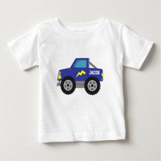 Racing Blue Monster Truck, for Baby Boys Infant T-shirt
