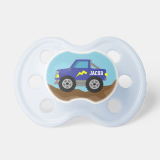 Racing Blue Monster Truck, for Baby Boys Pacifier