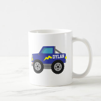 Racing Blue Monster Truck, for Boys Coffee Mug