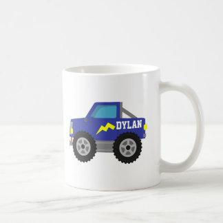 Racing Blue Monster Truck, for Boys Classic White Coffee Mug
