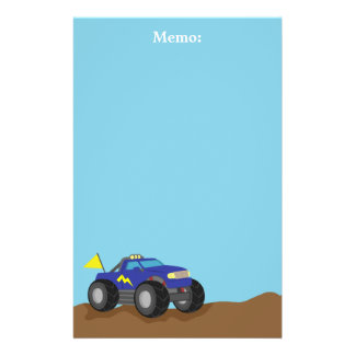Racing Blue Monster Truck, for Boys Stationery
