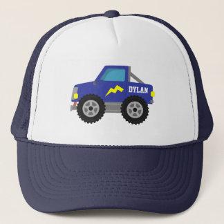 Racing Blue Monster Truck, for Boys Trucker Hat