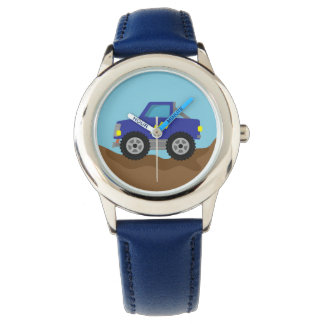 Racing Blue Monster Truck, for Boys Watch