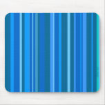 Racing Blue Striped Mousepad