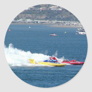 Racing Boats Classic Round Sticker