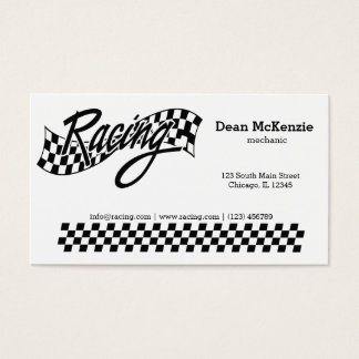 Racing Business Card