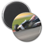 Racing Car 2 Inch Round Magnet