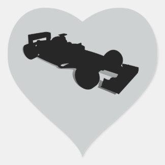 Racing Car_2 Heart Stickers