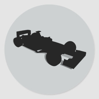 Racing Car_2 Round Stickers