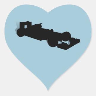 Racing Car_3 Heart Sticker