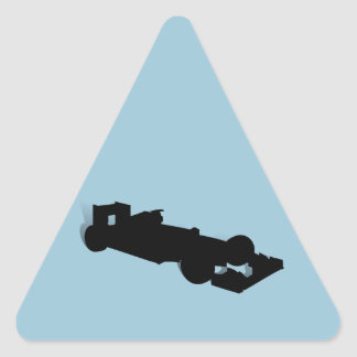 Racing Car_3 Triangle Stickers