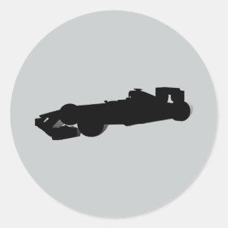 Racing Car_4 Round Sticker