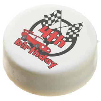 Racing Car 4th Birthday Dipped Oreos