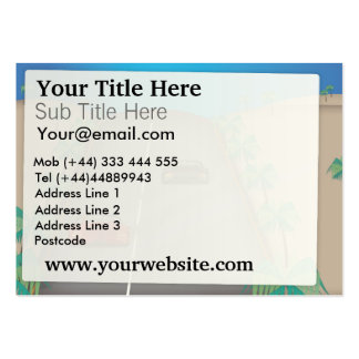 Racing Car Large Business Cards (Pack Of 100)
