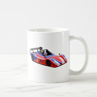 racing car coffee mug