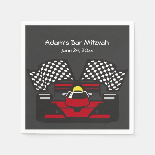 Racing Car Design Paper Napkins