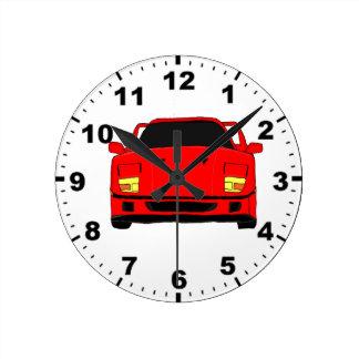 Racing car design wall clocks
