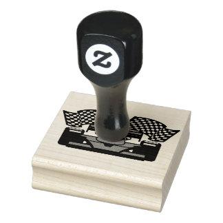 Racing Car Design Wooden Stamp