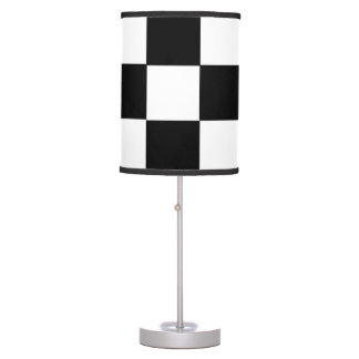 racing car flag chess square formula one table lamp