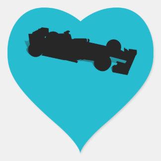 Racing Car Heart Sticker