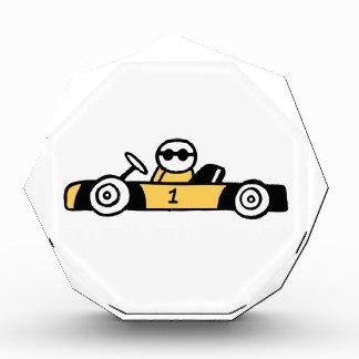 Racing car illustration printed on t-shirts award