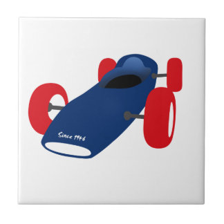 Racing Car illustration printed on t-shirts Ceramic Tile