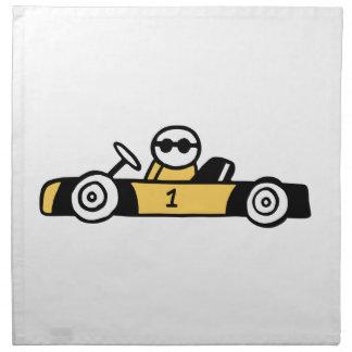 Racing car illustration printed on t-shirts cloth napkin